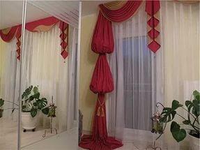 Многоярусный фонарик значительно укорачивает длину шторы